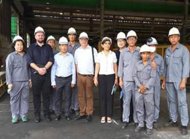 Anordica's International Team visit the production process